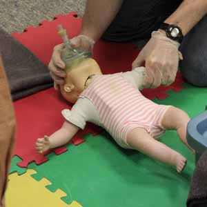 CPR Training on a Baby