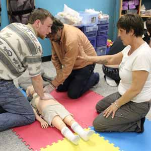 CPR  Training on a Child